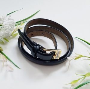 🆕️ Nine West Skinny Black Leather Belt